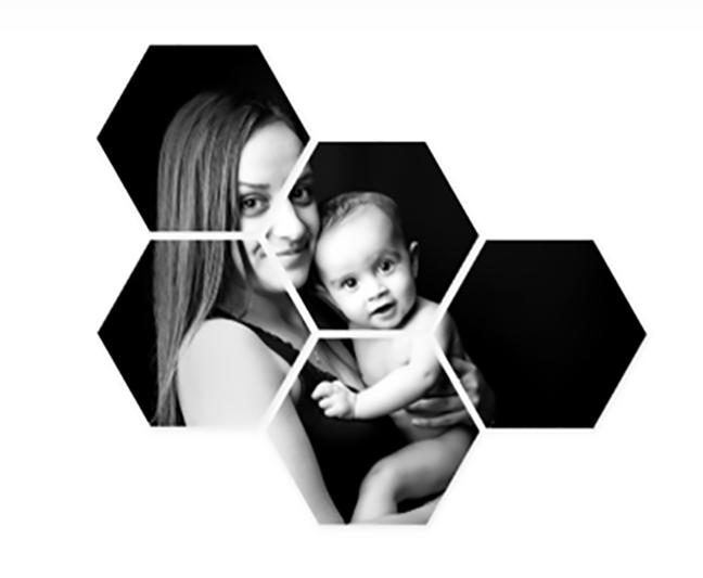 Cadre hexagonal