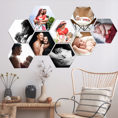 décoration photo hexagone