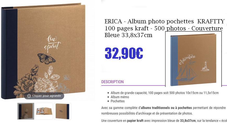 album kraftty 500p bleu