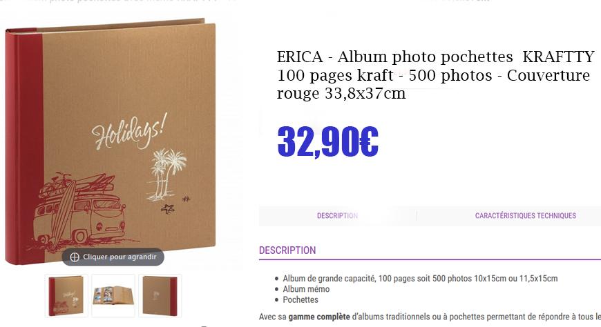 album kraftty 500p rouge
