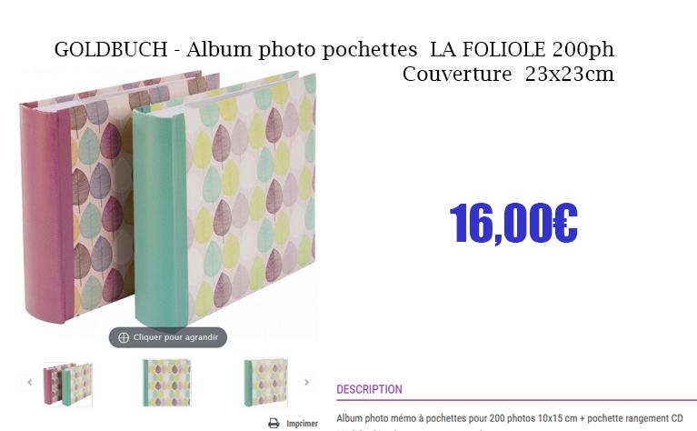 album pochette foliole 200p